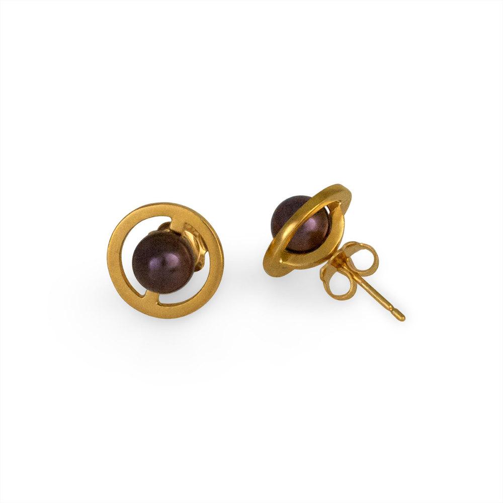 Cara Tonkin Gold Orbit Saturn Stud Earrings wYjQpKV91X