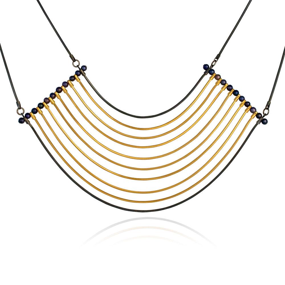 Cara Tonkin Orbit Oxidised Silver Cosmos Necklace SWwbzFv