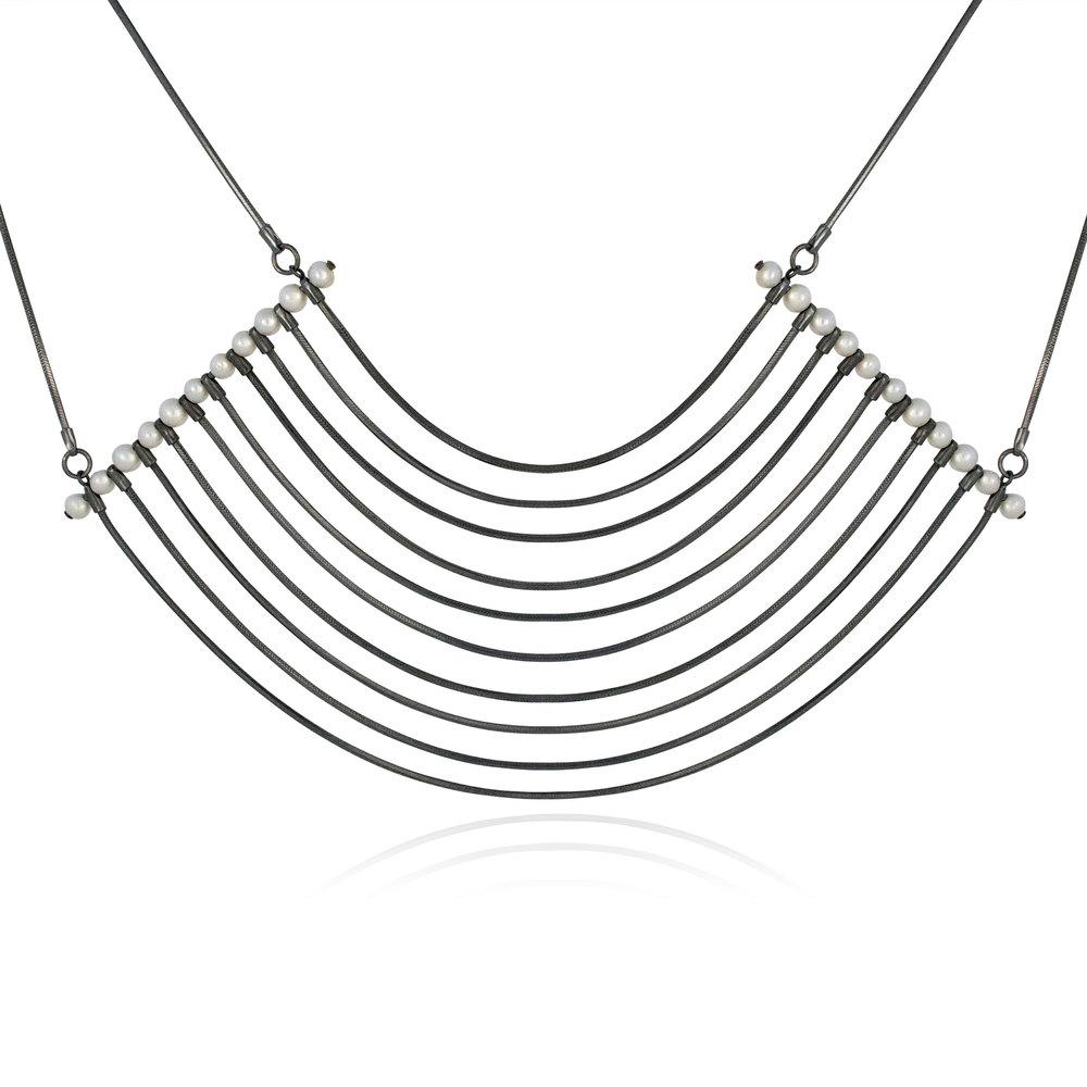 Cara Tonkin Orbit Oxidised Silver Cosmos Necklace n2SppRqlPJ