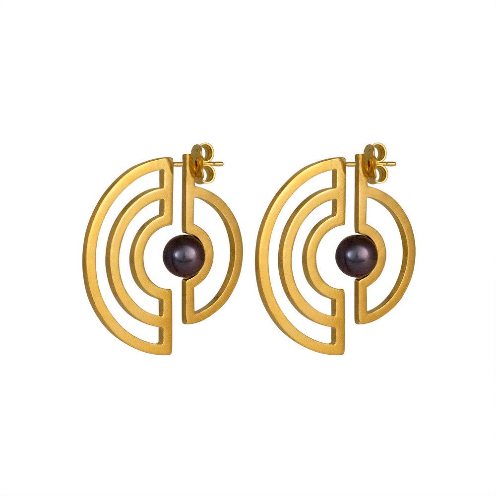 Cara Tonkin Gold Orbit Solaris Earrings bypLAGuMS
