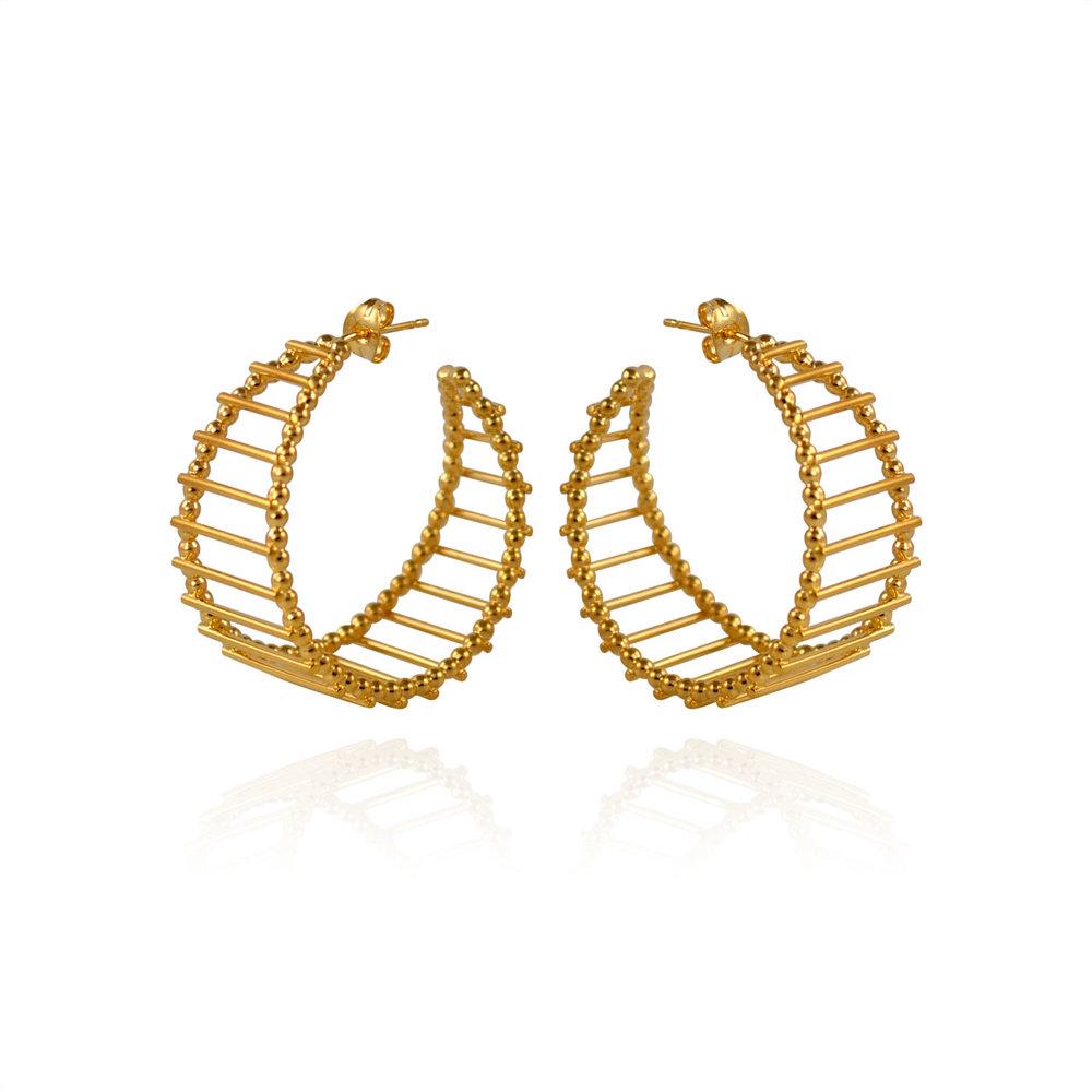 Cara Tonkin Silver Theda Stripe Hoop Earrings V3AsPoQm3T