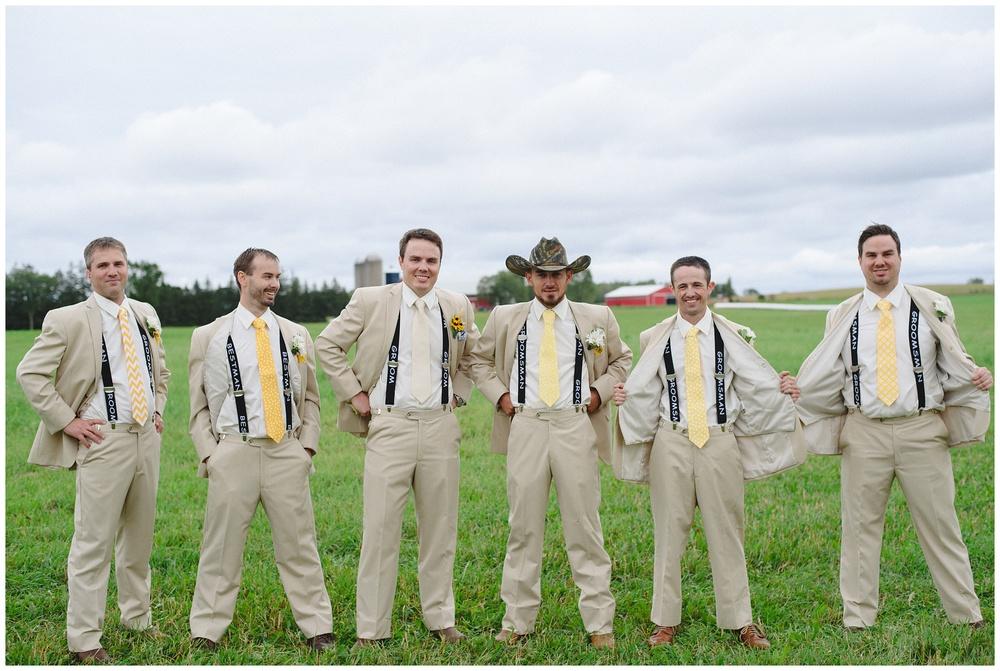 Groomsmen In Cowboy Hats Arynn Photography Toronto Wedding Durham Sunderland Photorapher Farm