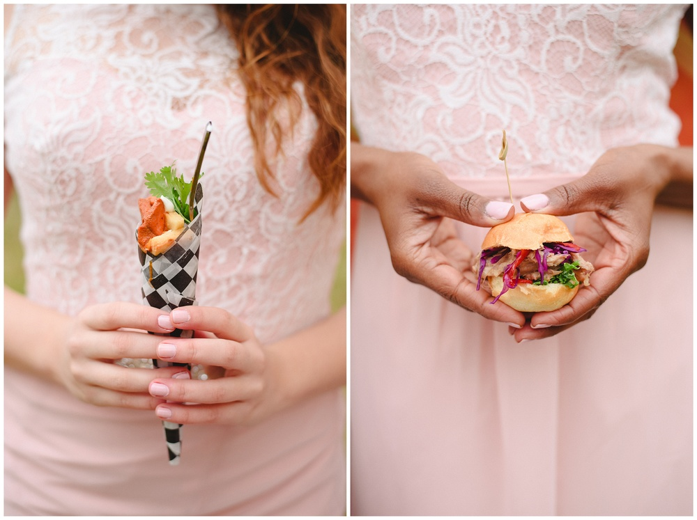 Arynn Photography, Styled Wedding, Toronto Weddding Photographer, Durham Wedding Photographer, Wedding Planner Magazine, food truck, comfort wedding food, mini hamburgers