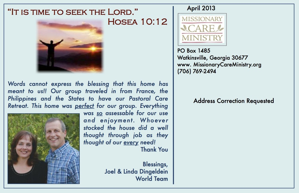 April 2013 Postcard