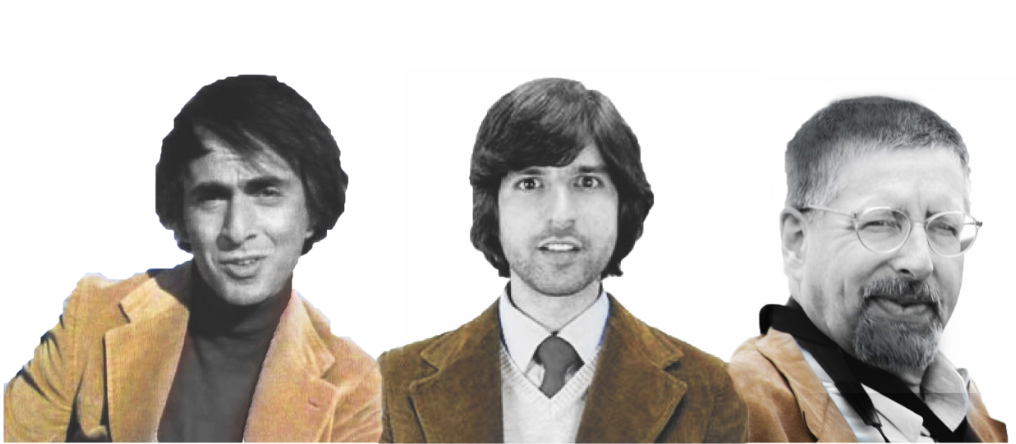 Today I learned that smart guys choose beige suede jackets. <3 to Carl Sagan, Demetri Martin, and… my dad!!