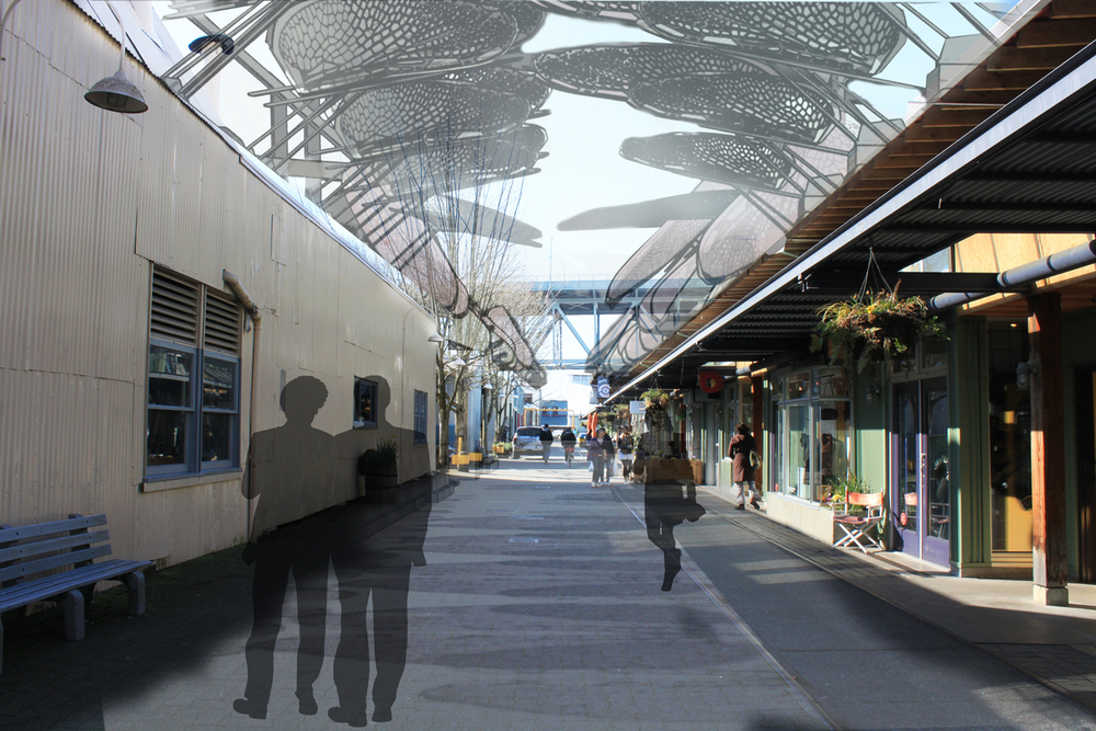 Rendering of Railspur Alley, Vancouver, BC (Solidworks, Sketchup, Photoshop)
