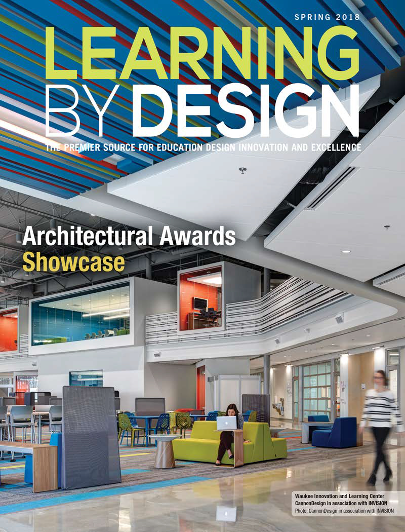 The project recently received an Honorable Mention award and was featured on the cover of Learning by Design magazine, a national educational facility publication.