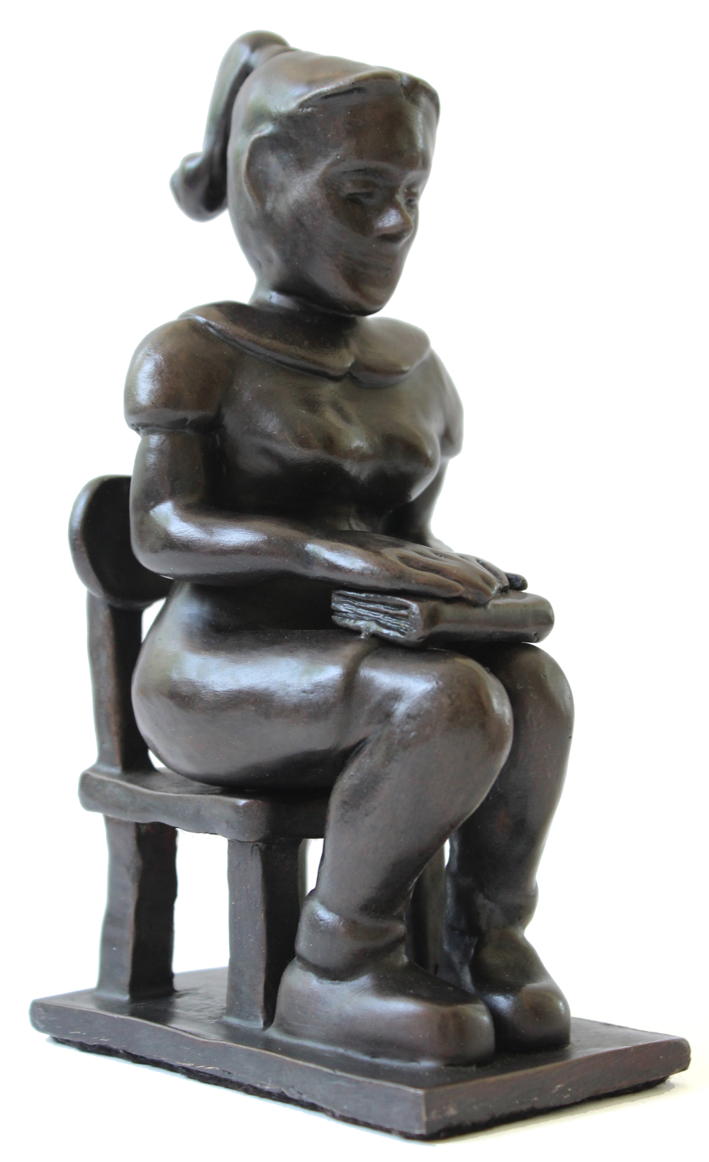 The English Student,  2014, cast bronze, 7 x 4 x 2""