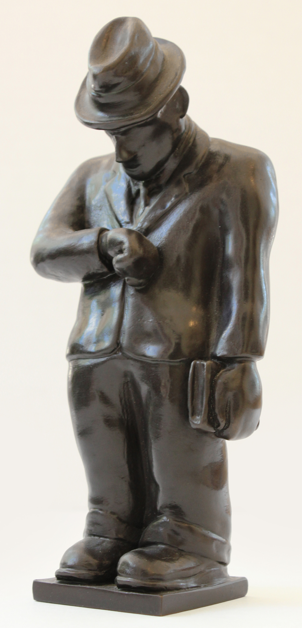 The Professor, cast bronze, 9 x 2.5 x 2.5""