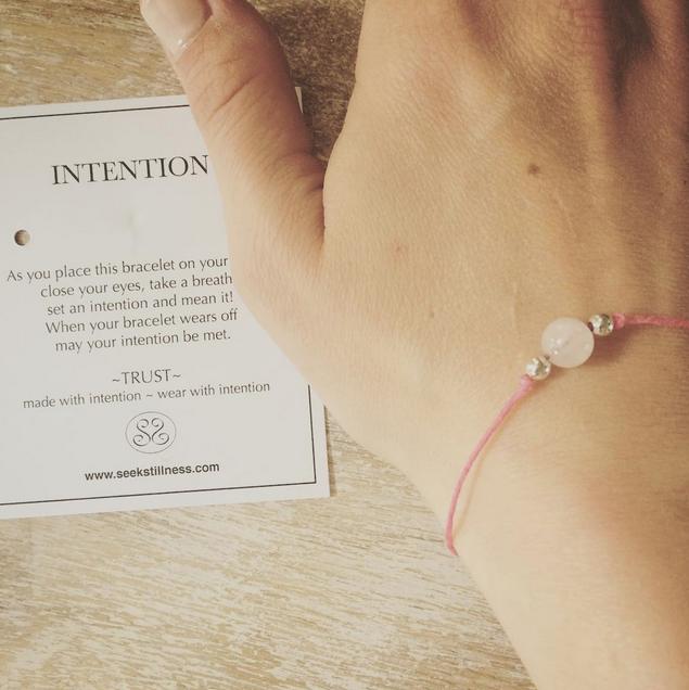 Grab your own intention bracelet at  seekstillness.com