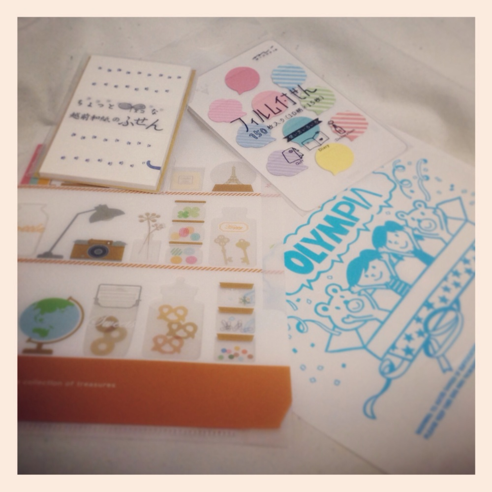 An overall, very cute collection of stationery. いや~かわいい写真になっちゃった・・・