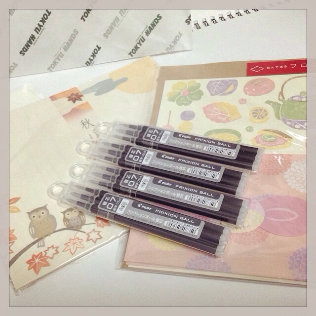 haul pic autumn stationery and frixion refills obsessive