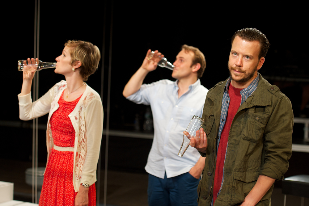 Suzy Jane Hunt, Richard Thieriot, and Eric T. Miller in Julien Schwab's  rogerandtom  at HERE.
