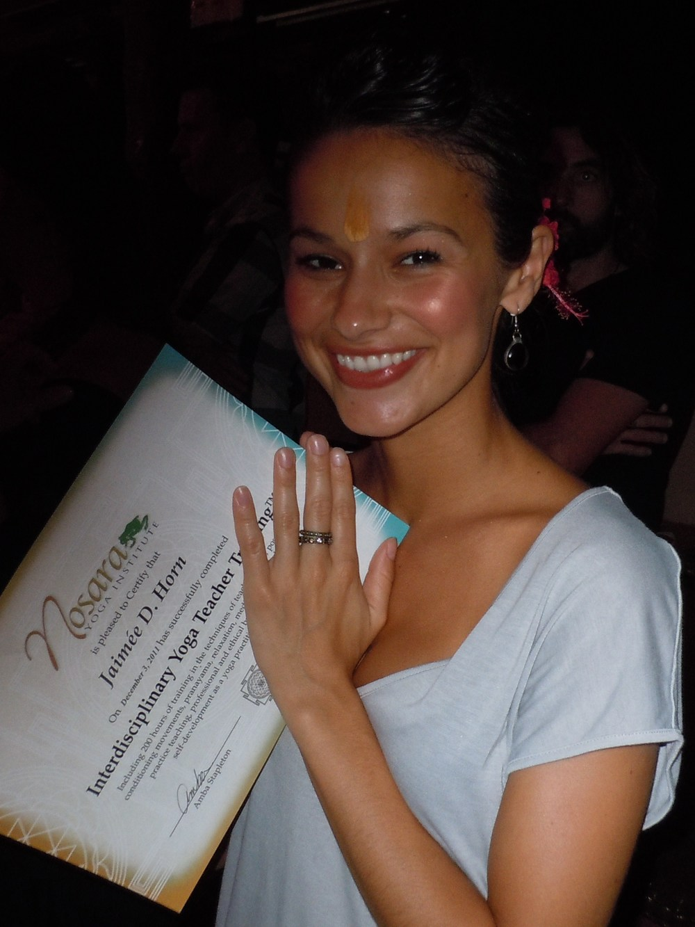 Beaming! I am now a graduate of the Nosara Yoga Institute's 200 Hour Interdisciplinary Yoga Teacher Training.