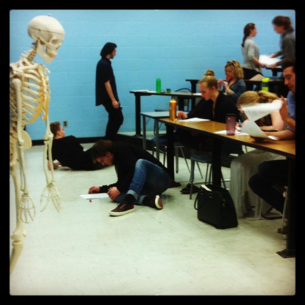 First year anatomy class at Ryerson University.