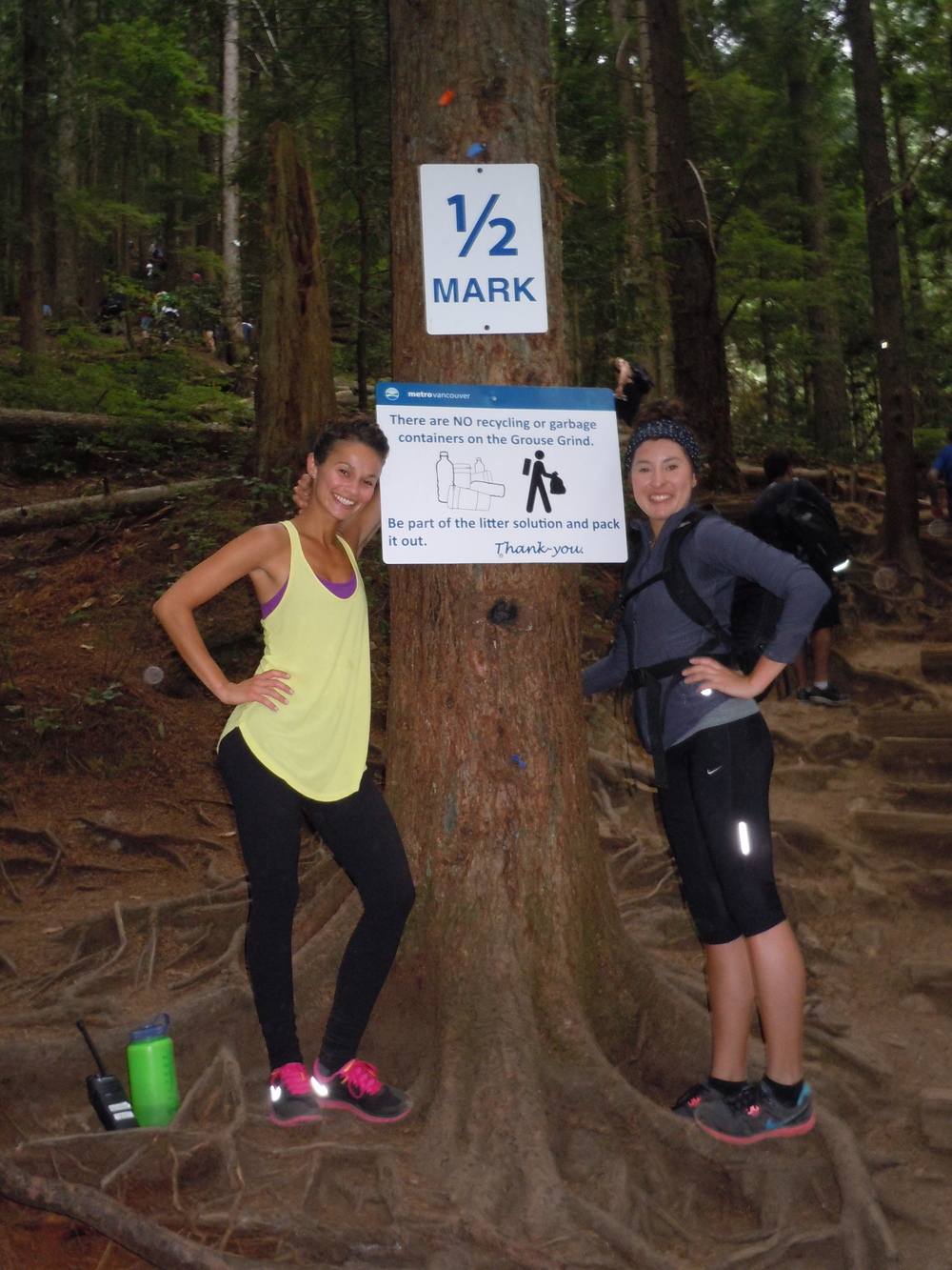Half way up the Grouse Grind with Mel in Vancouver.