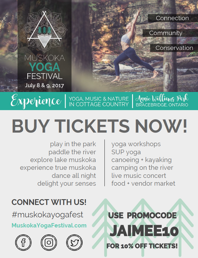 SAVE THE DATE! Next summer we'll be hanging in Bracebridge July 14th & 15th for the 2nd Muskoka Yoga Fest. #bestfest