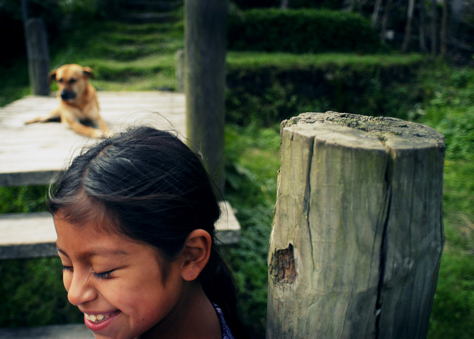 A very special girl with the most special dog on the banks of Lake Atitlan, Guatemala.