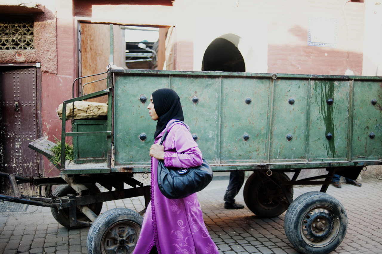 Hitting the streets of Marrakesh.