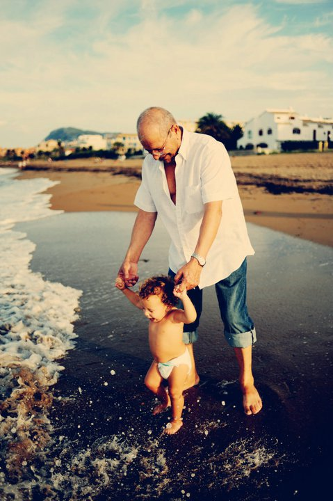 Eugeni and his abuelo. Denia, Spain.