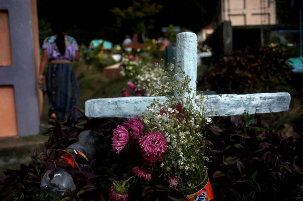 Santiago Atitlan's cemetery during Todos los Santos.