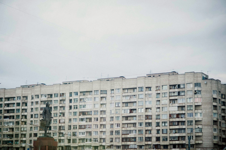 Urban landscape of St. Petersburg, Russia.