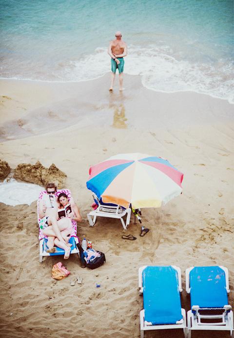 Beach scene Ibiza.