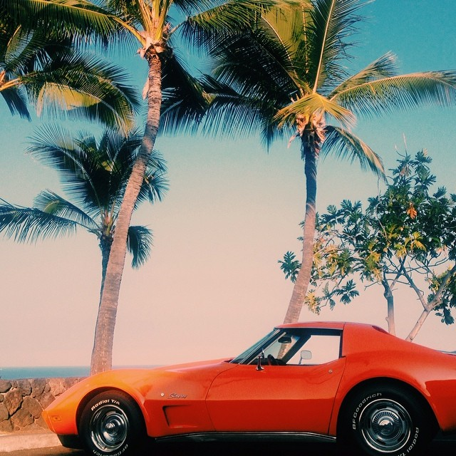 #vscocam #corvette #hawaii #orange #bigisland #kona #aloha #vsco (at Kta Keauhou)