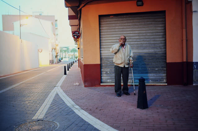 Early morning smoke in El Verger, Alicante.