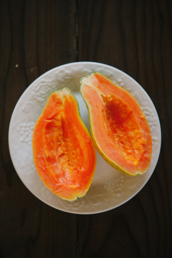 Papayas from the back yard.