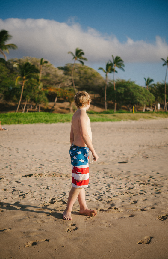 Patriotic pants in Hawaii.
