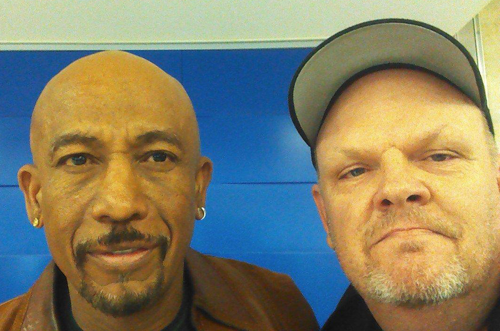 Ran into Montel Williams at the airport on my way home, I told him we weren't allowed to smile, because I was sad Shutterfest was over.