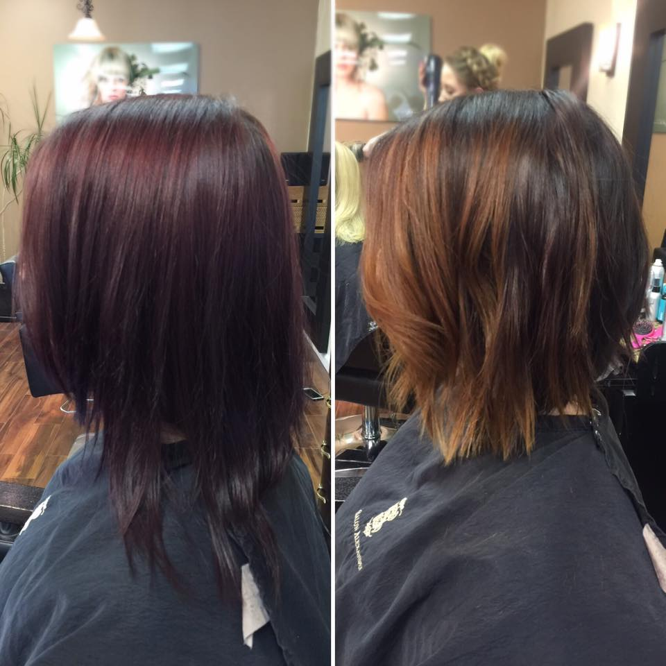 Before & After Cut & Corrective Color