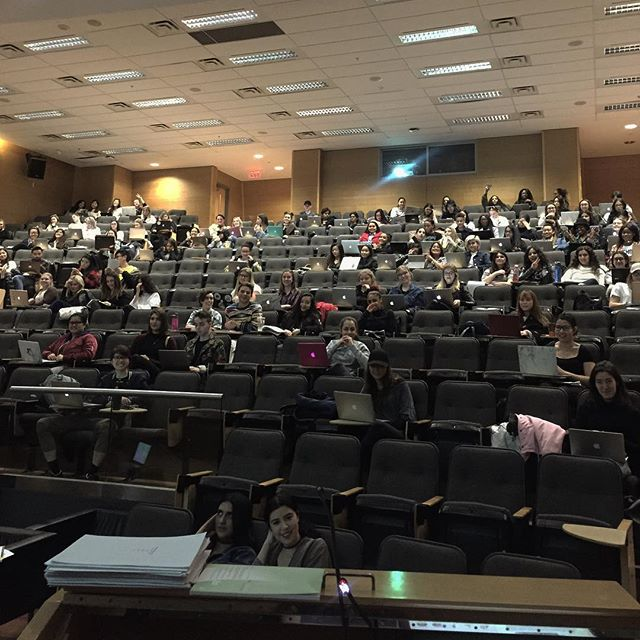 View from my very first lecture. #🙋