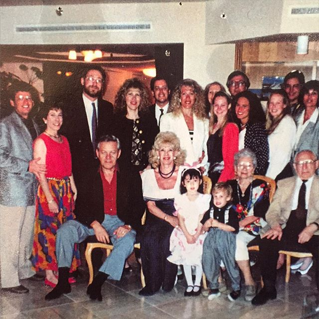 25 years ago today. Our annual #passover family reunion has gotten too big to fit into 1 frame. And yes, that is me in the front.