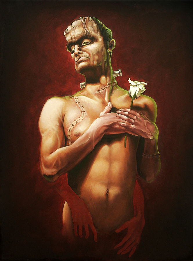Frankenstein,  30 x 40 inches. oil on canvas