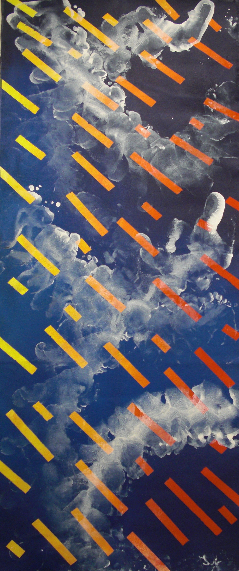 Dance #4, Acrylic on canvas, 2'x6', 2010-2011