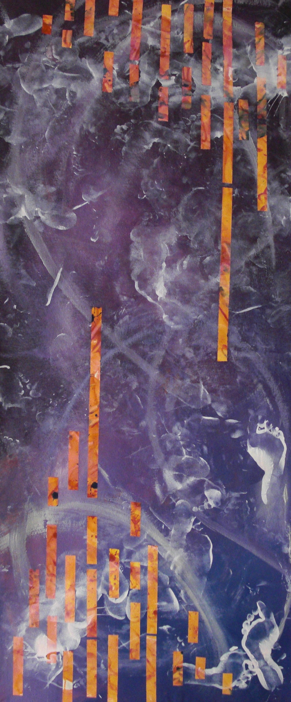 Dance #9, acrylic on canvas, 2'x6', 2010-2011