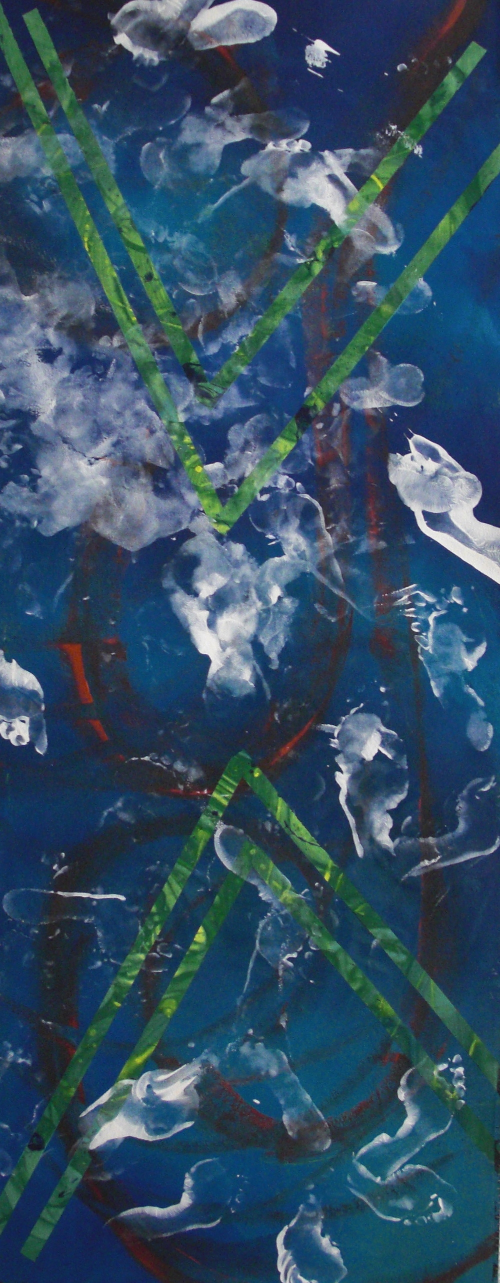 Dance #10, acrylic on canvas, 2'x6', 2010-2011