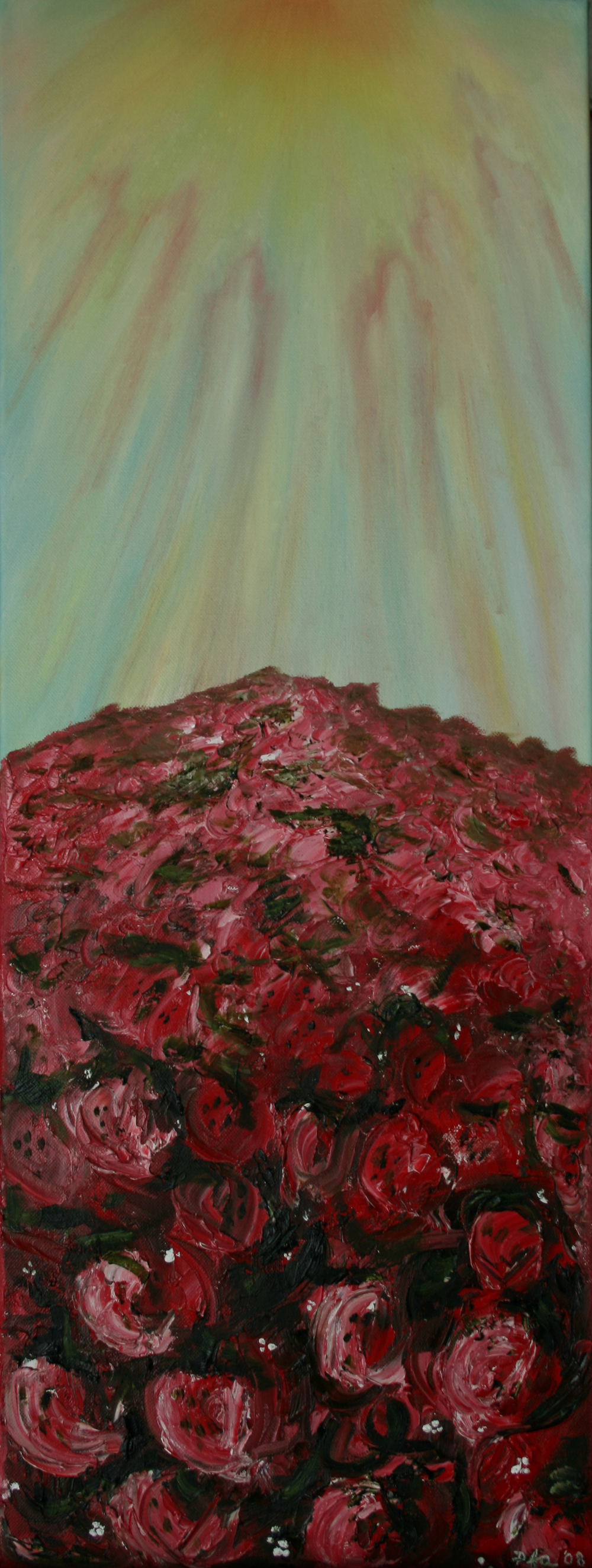 Field of Fire, Oil on canvas, 13''x31 1/2'', 2008