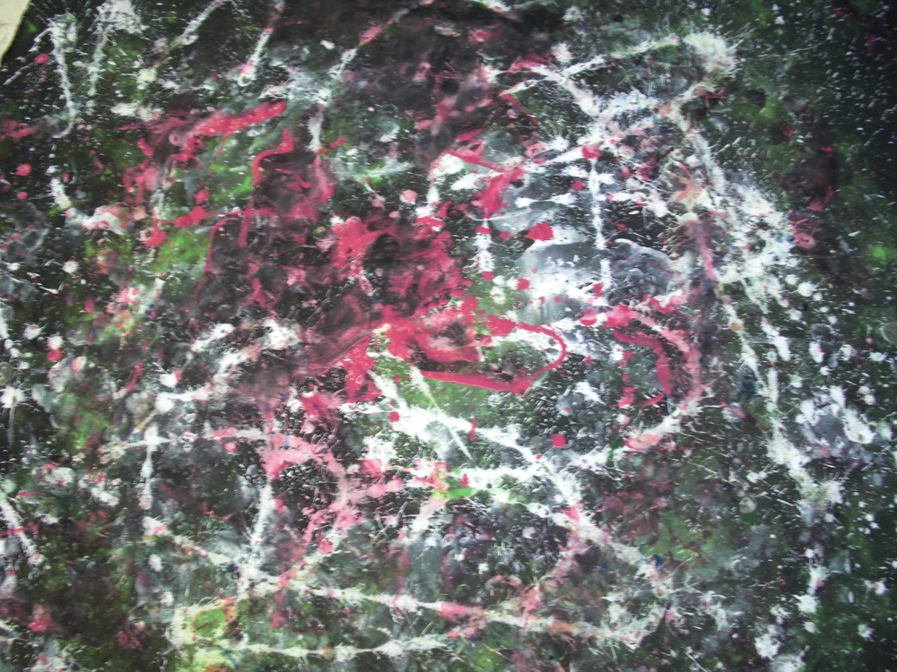 Dance #2, tempera on canvas, 5'x6', 2010