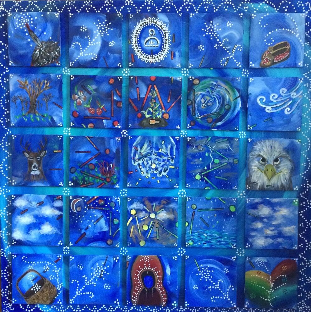Ganohanyoh, acrylic panels, 2013-2015