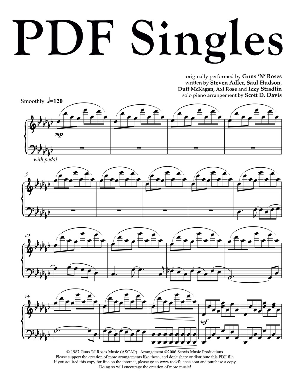 Sheet Music Single PDF Downloads