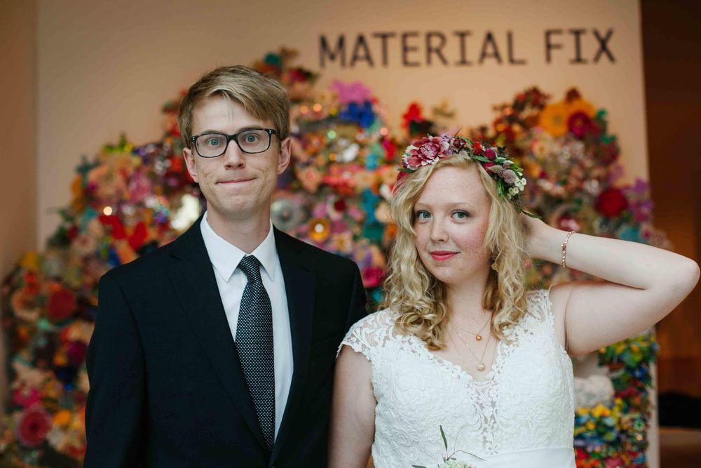 artsy wedding kohler art center