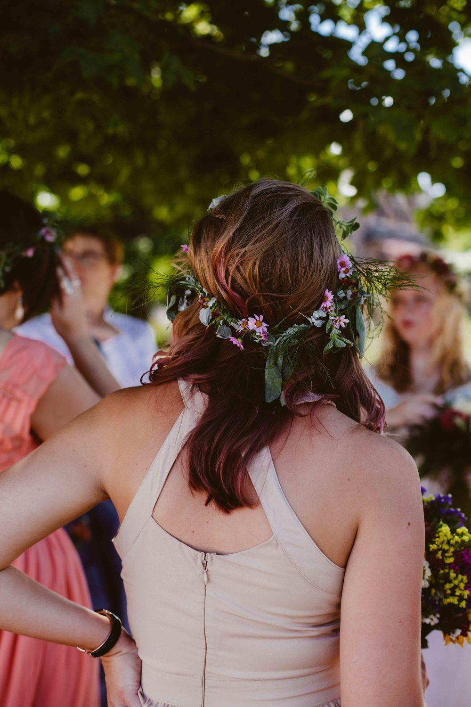 floral crown wedding bridesmaid