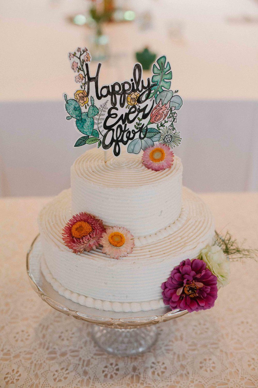watercolor cake topper artsy wisconsin wedding