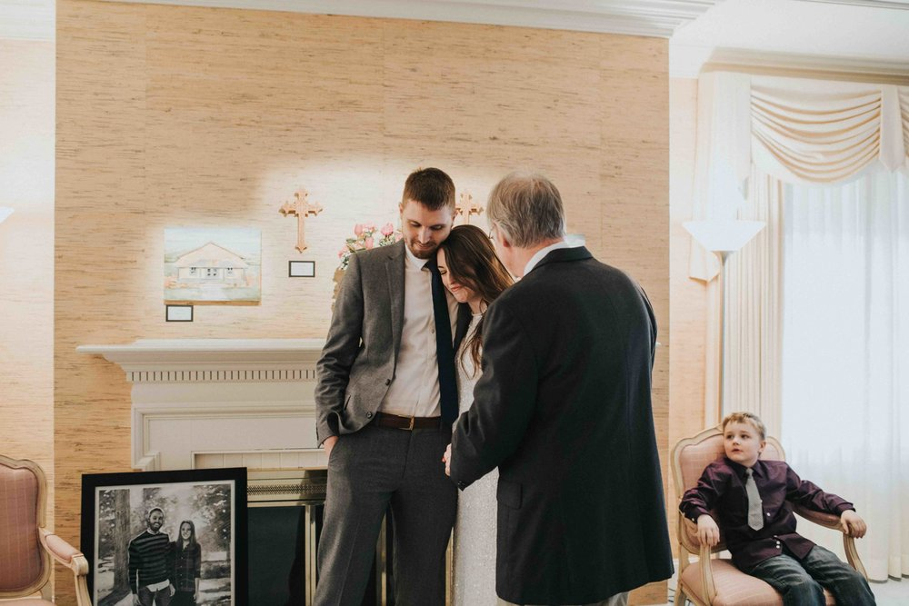intimate winter wedding the alexander house wisconsin