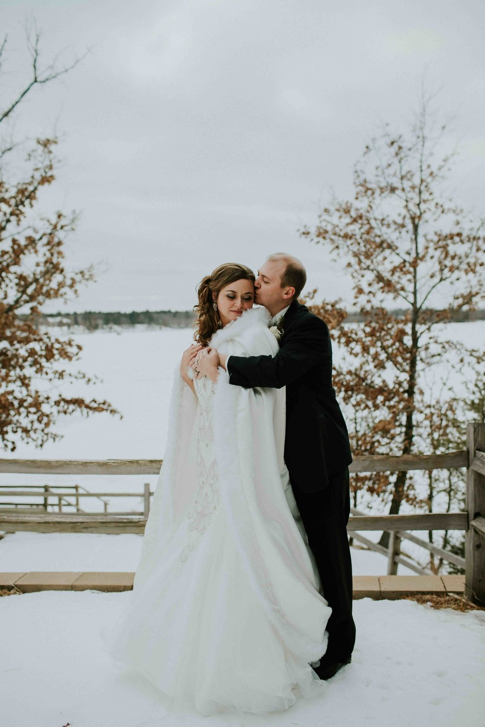 Justin + Anne | Winter Wedding | The YMCA Camp Alexander Wisconsin ...