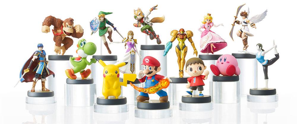 Wave One of Nintendo's amiibo figures.