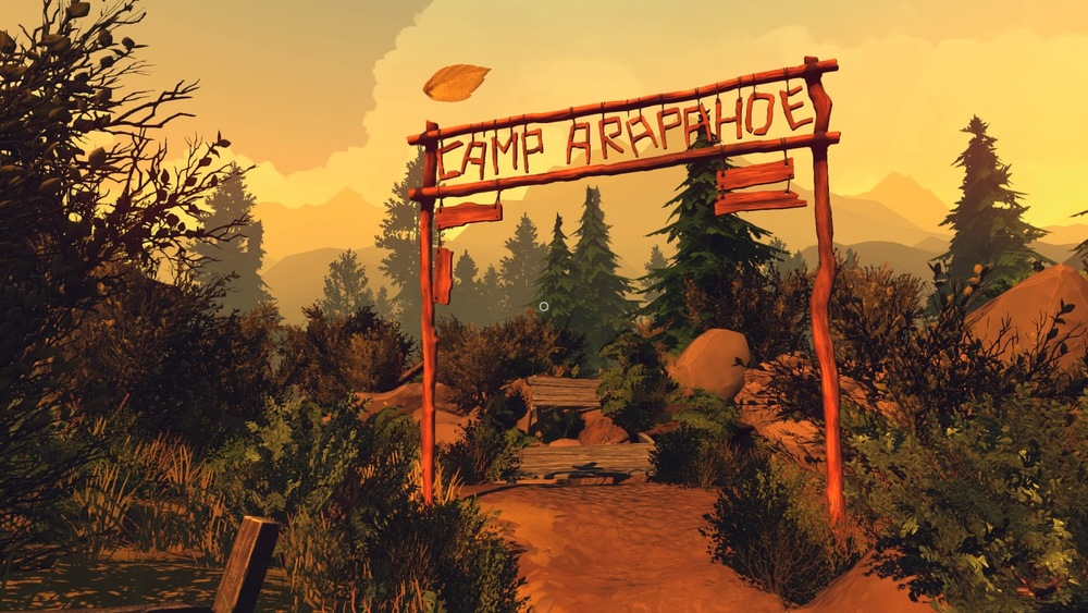There is an actual summer camp in the game, although it's fallen entirely into disrepair.
